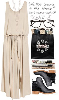 """There's no paradise at work"" by martinavg ❤ liked on Polyvore"