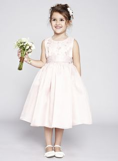 Photo 1 of Isabelle Blush Flower Girl Dress