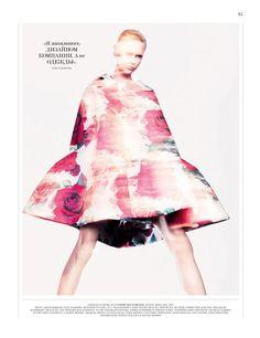 Jason Kibbler Captures the Spirit of Comme des Garçons Fall Collection for Interview Russia