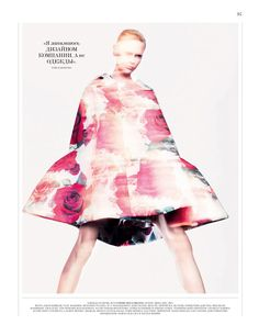 Jason Kibbler Captures the Spirit of Comme des Garçons Fall Collection for Interview Russia