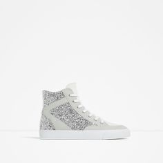 Image 1 of SHINY HIGH-TOP SNEAKERS from Zara