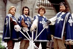 The Three Musketeers 1993 movie Starring Charlie Sheen, Kiefer Sutherland, Chris O'Donnell, Oliver Platt, Tim Curry, Rebecca De Mornay, Gabrielle Anwar