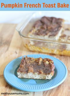 Pumpkin French Toast Bake l  Real Housemoms