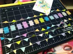 washi tape bunting: process