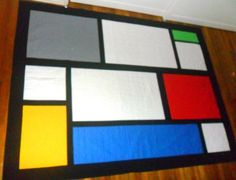 Simple color, great canvis for learning long arm patterns- Front of Quilt