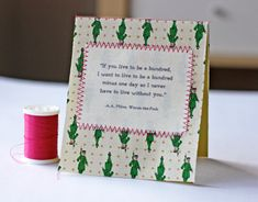 DIY stitched fabric notecard | How About Orange
