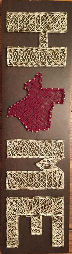 String Art Texas Home!
