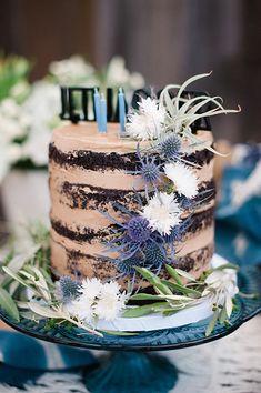 chocolate semi naked cake