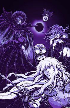 Tags: DigitalART Manga Fanart Anime Berserk Griffith Hawk of Darkness White Hawk Femto God Hand Void Conrad Ubik Slan  Eclipse