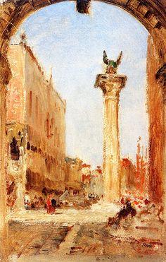 The Athenaeum - Venise, rue du Consulat (Felix-Francois-Georges-Philbert Ziem - )