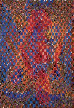francois rouan le tressage est le brouillage de la perception, l'identification se fait de façon fragmentaire