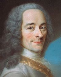 "Voltaire is my favourite philosopher.   Volatire - ""The comfort of the rich depends upon an abundant supply of the poor."""