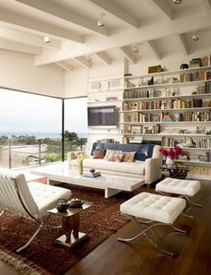 white, living room