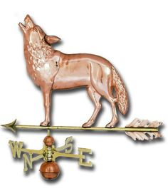 Wolf Copper Weathervane