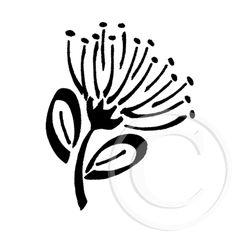 nz native plants line drawring Christmas Stencils, Christmas Art, Xmas, Native Drawings, 3d Drawings, Maori Symbols, Flower Line Drawings, Bird Template, Zealand Tattoo