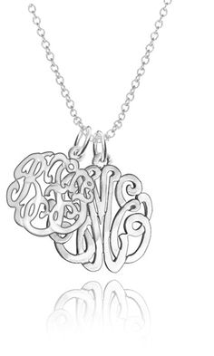 "Personalized Couples Monogram Initials 1""(Order Any Initials) - Sterling Silver"