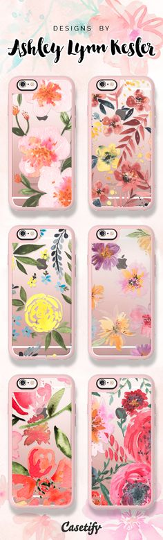 All time favourite floral iPhone 6 protective phone cases by Ashley Lynn Kesler | Click through to shop >>> https://www.casetify.com/ashleylkesler/collection #floralprint | @casetify