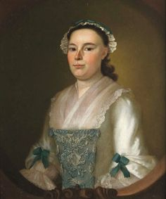 1755 Joseph Blackburn (American colonial era artist, 1700-1780) Abigail Russell Curwen