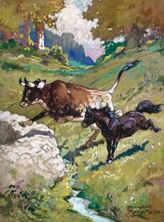 RUNNING FREE by HARRY ROUNTREE - original artwork for sale   Chris Beetles