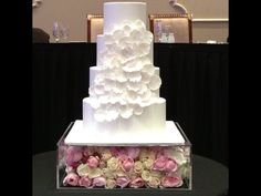 Beautiful perspex box to raise the cake and decorate to your theme of style and color. Reserve yours today.