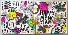 Happy New Year sketchbook by Lisa Congdon