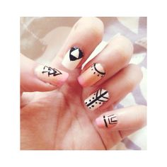 Black and pink nail art