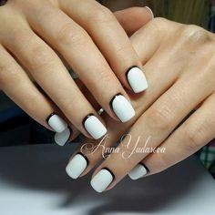 Business nails, Extravagant nails, Nails ideas 2016, Retro nails, Reverse French, Reverse french nails, Ruffian nails, Shellac nails 2016