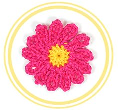 """"""" Bonita y fácil flor de doce pétalos a crochet. Perfecta para decorar cualquier tejido o manualidad. Por su tamaño es fácilmente adapta..."""