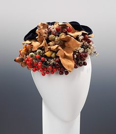 Hat 1939, French, Made of silk