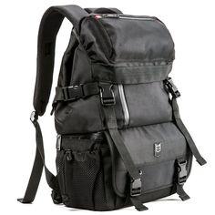 Camera Backpack - Evecase Digital SLR Camera Water Resistant MultiPurpose  Daypack - Black Digital Slr