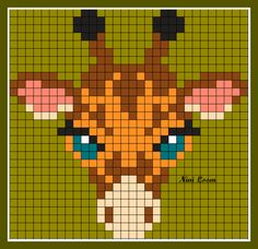 theme animaux sauvages - Page 2 - Pixel Crochet, C2c Crochet, Crochet Books, Tapestry Crochet, Crochet Chart, Mini Cross Stitch, Cross Stitch Animals, Pixel Art, Crochet Giraffe Pattern