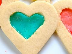 DIY Thursdays: Valentine's Day Stained Glass Heart Cookies - Miss Money Bee Heart Cookies, Cookie Cutters, Stained Glass, Valentines Day, Bee, Shapes, Money, Valentine's Day Diy, Valentines