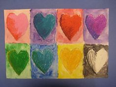 hearts, another fun twist on typical valentines day art to remember