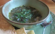 Spicy Black Bean and Hominy Soup with Kale