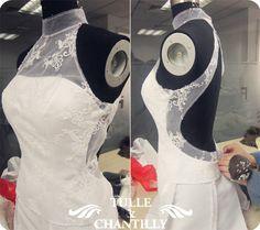 Illusion Lace Wedding Dress Bodice