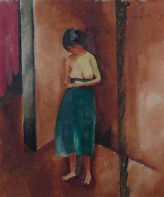 JEUNE FEMME TORSE NU by Moïse Kisling