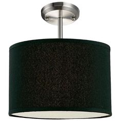 Z-Lite Albion Collection Black/Brushed Nickel Finish One Light Pendant
