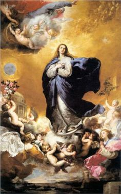 Jose de Ribera, The Immaculate Conception, This painting depics an appearance of a wonder from heaven that is clothed with the sun and ownes a crown upon her head. This painting shows religious co cepts in a realistic way. Blessed Mother Mary, Blessed Virgin Mary, Catholic Art, Religious Art, Immaculée Conception, Assumption Of Mary, Baroque Art, Madonna And Child, Sacred Art
