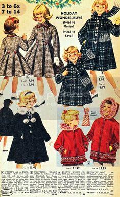 what-i-found: What the Kids Wore to the Christmas Party - 1960 Vintage Kids Clothes, Vintage Girls, Vintage Children, Retro Vintage, Vintage Outfits, Vintage Fashion, Magazine Mode, Florida Fashion, Fashion Catalogue