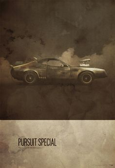 """Mad Max"" - Retro poster by Justin Van Genderen  #Art #Movie #Car #Poster #Alternative"