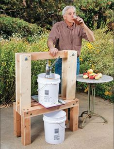 We have an awesome freebie for you today! Detailed plans for building your own apple cider press.  There are few drinks so satisfying as a