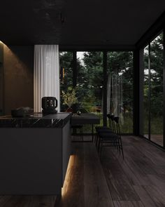 Home Room Design, Dream Home Design, Modern House Design, My Dream Home, Black House Exterior, Dark House, Dream House Interior, Forest House, Style At Home