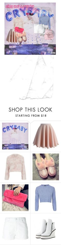"""""""Cry Baby"""" by misshisscat ❤ liked on Polyvore featuring beauty, Chicwish, RED Valentino, Pixie Pair, Youme, Topshop, Étoile Isabel Marant, JY Shoes and Dolce&Gabbana"""