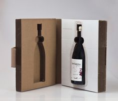 wine packaging cardboard structure - Google Search
