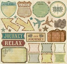 Creative Imaginations Trip & Travel 12x12 Cardstock Stickers