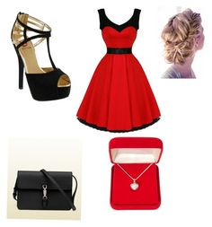 """""""Step sisters prom outfit"""" by anagrace-kotulak ❤ liked on Polyvore featuring Red Circle, Gucci and Alexa Starr"""