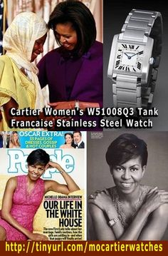 The first African-American First Lady, known as comparable to those in the field of fashion lady Jacqueline Kennedy : Michelle Obama with soft pearls, Cartier watches (Cartier Womens W51008Q3 Tank Francaise Stainless Steel Watch) , tough performance of the highest in the history of the first lady of bodybuilding neutral atmosphere. mothers-day-gifts-ideas