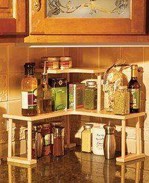 Marimac Deluxe Two Tier Kitchen Counter Corner Shelves In