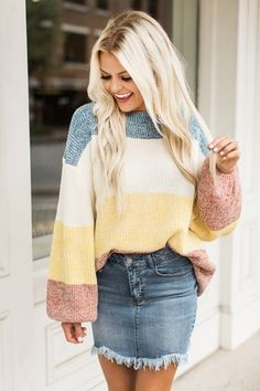 0b132fe516c Lost In This Moment Sweater Yellow Fall Winter Outfits
