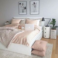 50 pink bedroom decor you can try yourself - Diyideasdecoration.club - 50 pink bedroom decor that you can try yourself out - Pink Bedroom Decor, Comfy Bedroom, Room Ideas Bedroom, Trendy Bedroom, Bedroom Colors, Modern Bedroom, Girls Bedroom, Bed Room, Diy Bedroom